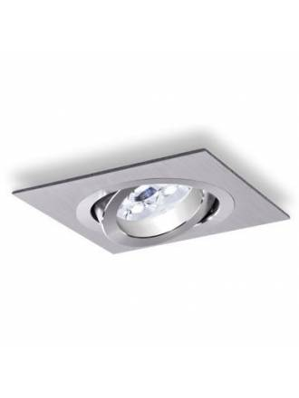Square recessed light LED 6w aluminium