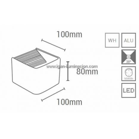 SULION Cube Fix wall lamp LED 6w