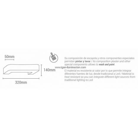 SULION Gypsum 06 wall lamp plaster