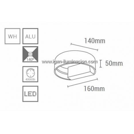 SULION Cobrowley wall lamp LED 6w