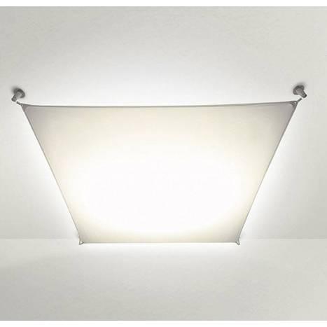 Lampara Veroca convencional tela blanca Blux