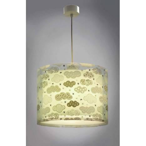 Lámpara colgante Clouds verde 1 luz - Dalber