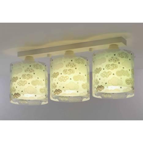 Lámpara de techo Clouds verde 3 luces - Dalber