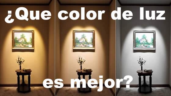 ¿Que color de luz LED es mejor?