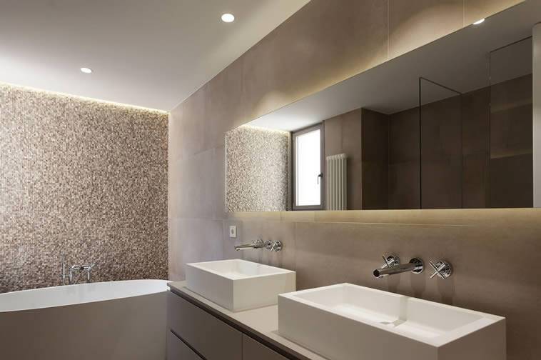 Recessed lights for bathroom