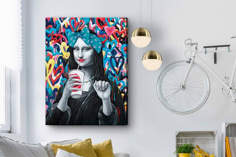 Paintings and Bass relief
