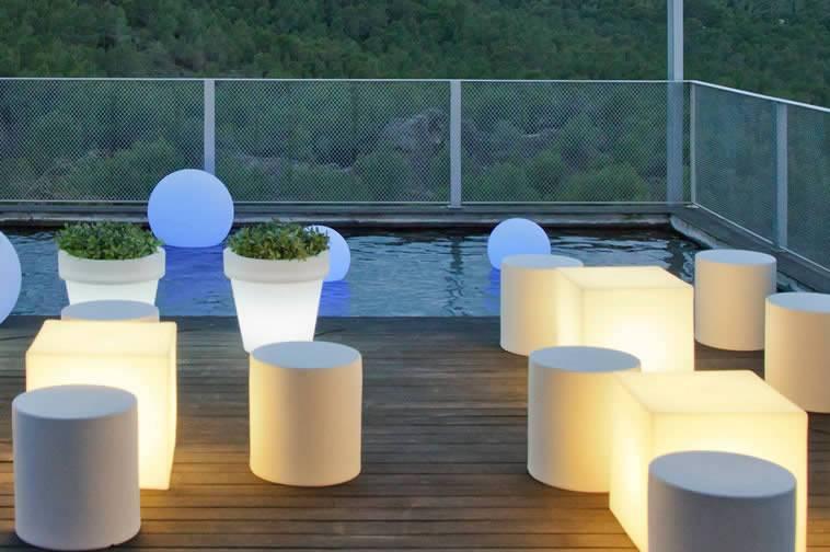 Mobiliario iluminado
