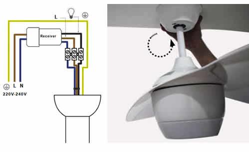 Conexionado cables ventilador de techo