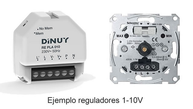 Tipos de regulador LED 1-10v