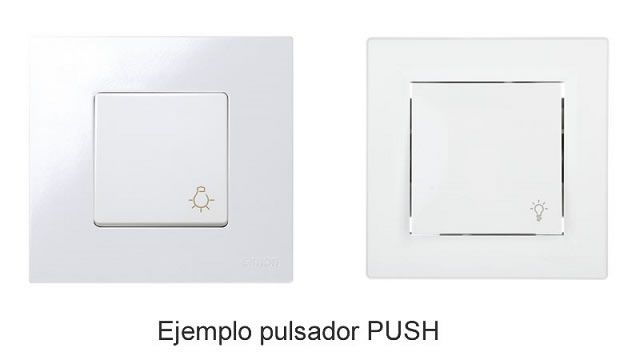 Tipos de regulador LED PUSH